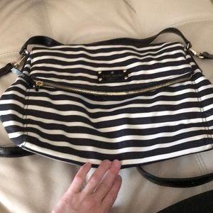 Kate spade striped messenger bag